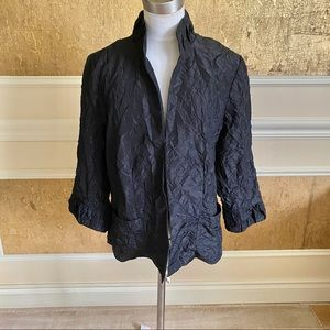 Chico's black wrinkle blazer 12